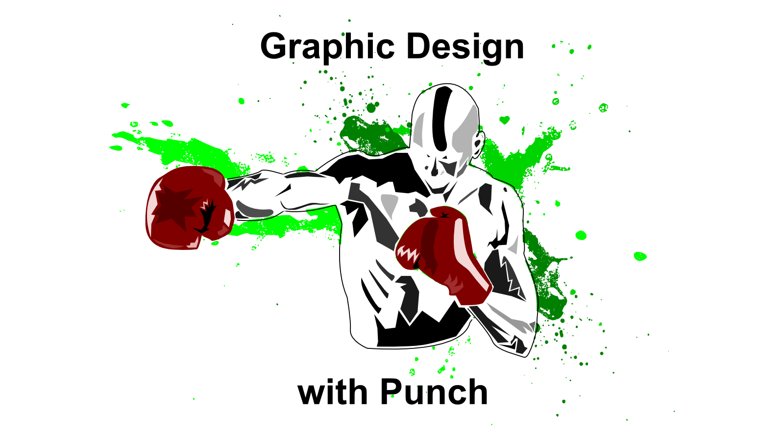 Graphic design with punch