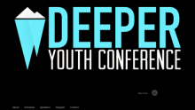 Deeper Youth Conference home page header