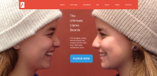 Llama Beanie website screenshot